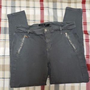 Joe's Jeans Ankle Zip Skinny Dove Grey